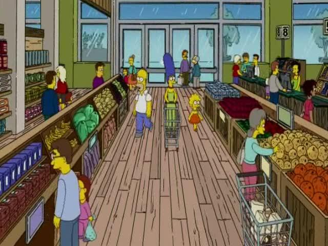The high price of organic food, as described in The Simpsons