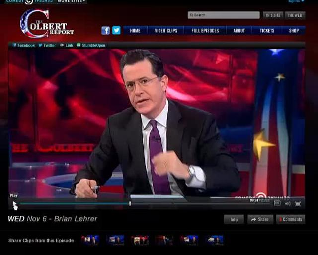 The Colbert Report on Labeling of GM Foods