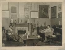 Photograph of Gertrude Stein and Alice Toklas in the apartment at 27 rue de Fleurus, Paris, 1922