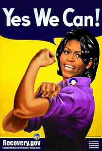 michelle obama rosie the riveter critical commons. Black Bedroom Furniture Sets. Home Design Ideas