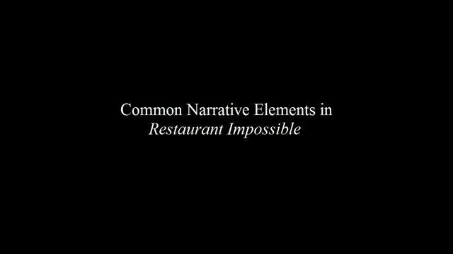 Common Narrative Elements in Restaurant: Impossible