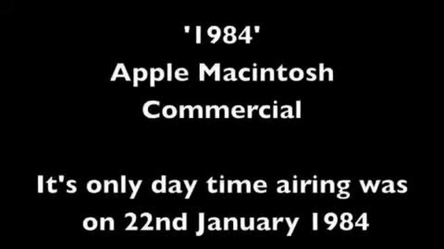 1984 Apple Macintosh Commercial