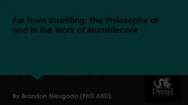 Philosophy and Mumblecore