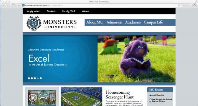 Pixar and Monsters University