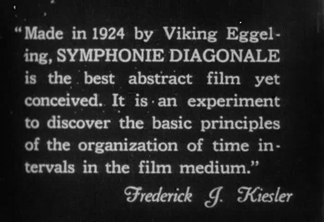 Symphonie Diagonale - opening