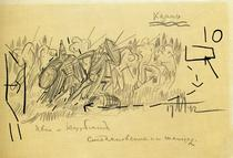 Kazan: Ivan and Kurbsky (1942) - Ivan Path Sketch
