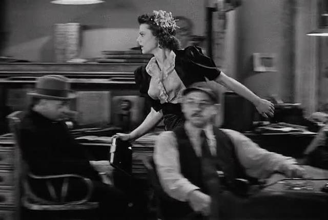 Eyeline match in His Girl Friday