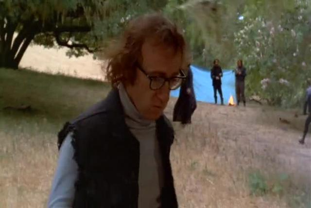 Sound bridge and voice over narration in Woody Allen's Sleeper (1973)