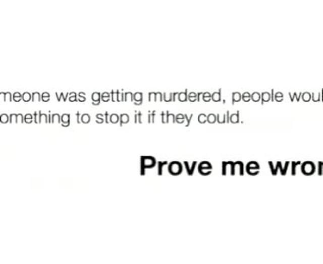 Student chronicle of Kitty Genovese murder