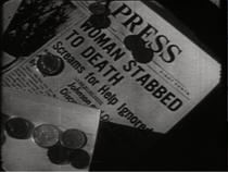 """Newspaper Headline in the 1964 TV Documentary """"The Detached Americans"""""""