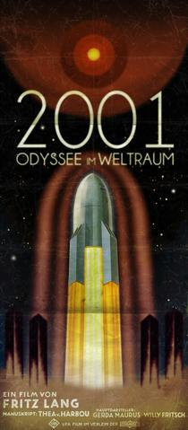 Movie poster for the German language release of Fritz Lang's 2001: A Space Odyssey