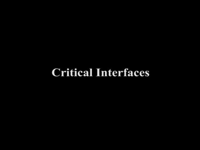 Critical Interfaces