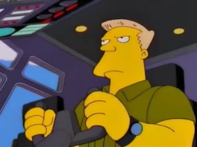 Simpsons McBain under attack by Commie-Nazis