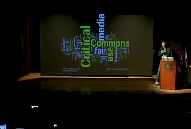 Critical Commons presentation at the Open Video Alliance conference