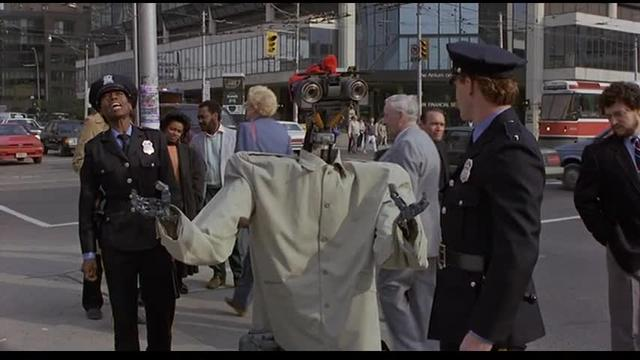 A robot asserts human and civil rights in Short Circuit 2