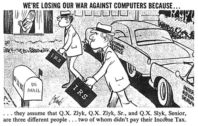 Computer anxiety cartoon from Mad Magazine