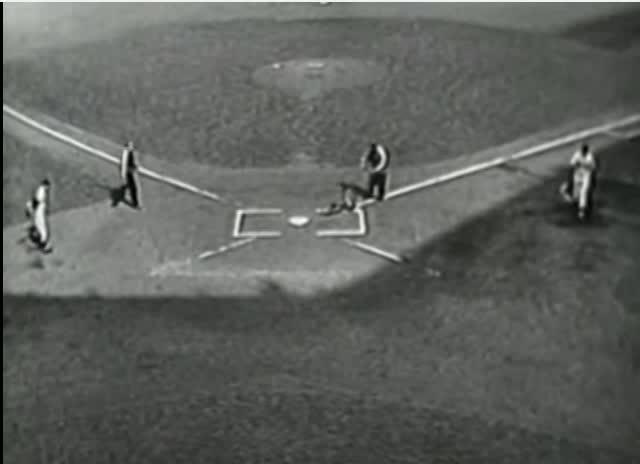 The opening of Game 7 of the 1952 World Series.
