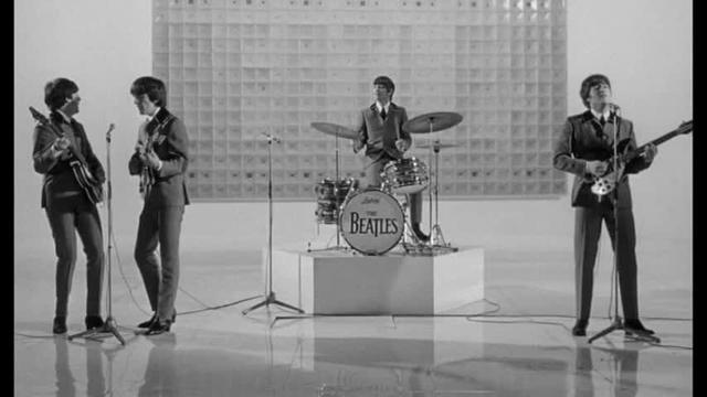 Hyperbolically sexualized Beatles in Hard Day's Night