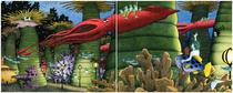 Double spread of camera in an underwater city with mythical and real ... Lotr