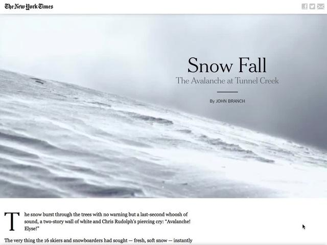Scroll-Activated Storytelling in Snow Fall