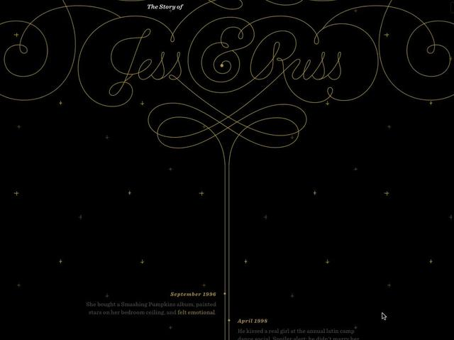 Parallax Scrolling in The Story of Jess and Russ