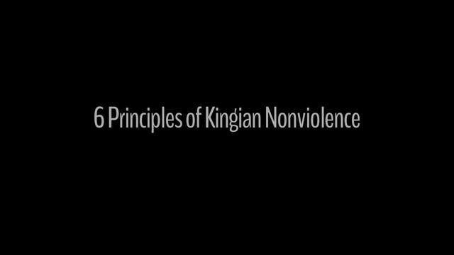 6 Principles of Nonviolence