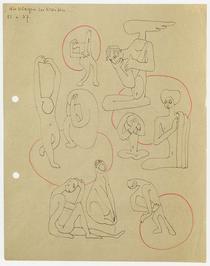 """Figure 5. Wir klagen in Kreisen (1937), (We complain in circles), (Kleiman, """"Eisenstein on Paper"""", 182)"""