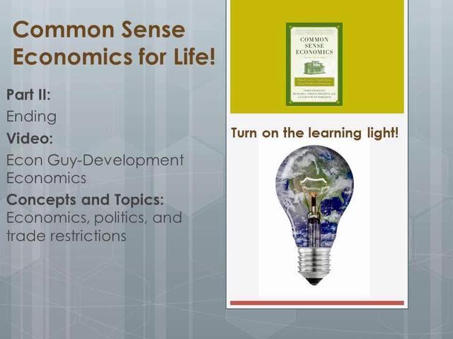 CSE 2 End- Econ Guy- Development economics