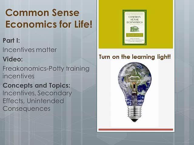 CSE 1.1 Freakonomics-Potty training incentives