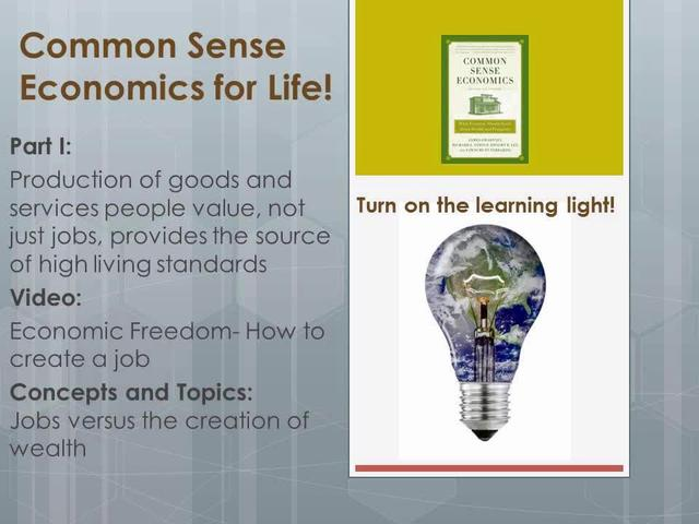 CSE 1.9 Economic Freedom- How to create a job