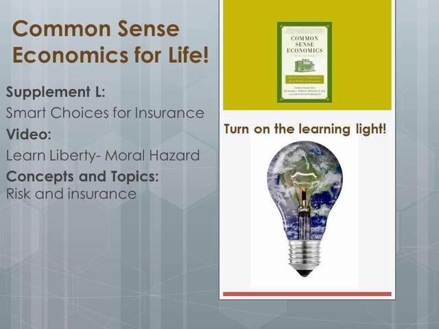 CSE L Learn Liberty- Moral Hazard