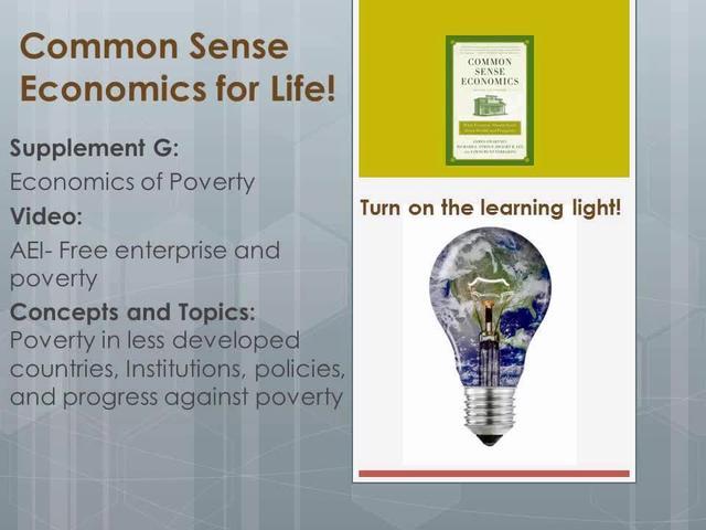 CSE G AEI- Free enterprise and poverty