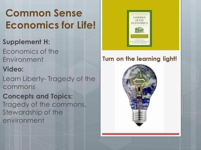 CSE H Learn Liberty- Tragedy of the commons