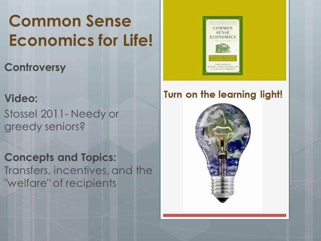 CSE Controversy Stossel 2011- Needy or greedy seniors