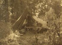 This still image illustrates photographer Edward S. Curtis working in one of his tents in the field during the period between (approximately) 1905 and 1927 ... & Edward Curtis in Field Tent - Still Image u2014 Critical Commons