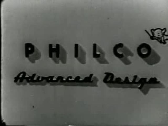 Graphics in a Philco Refrigerator Commercial