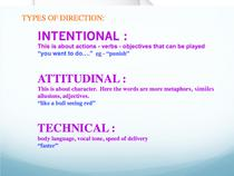 Types of Direction+