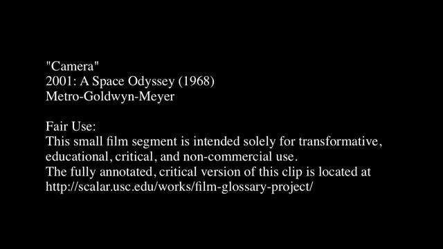 Camera in 2001: A Space Odyssey