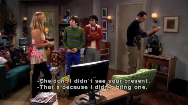 The Big Bang Theory -- Gift Giving