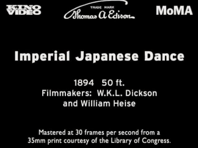 Imperial Japanese Dance (1894)