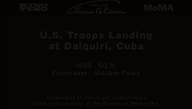 U.S. Troops Landing at Daiquiri, Cuba (1898)