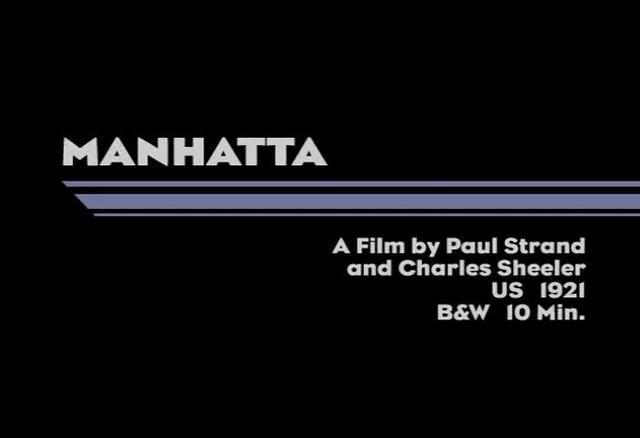 Manahatta (1921)