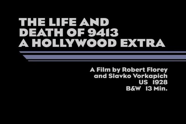 The Life and Death of 9413 A Hollywood Extra (1928)