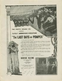 The Last Days of Pompeii Advertisement