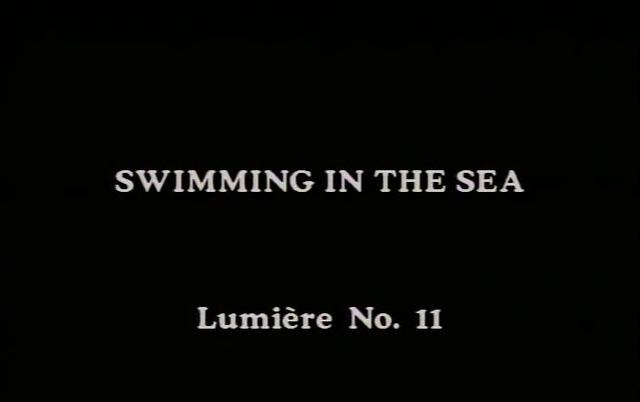 Swimming in the Sea - Lumière film #11 (1895)