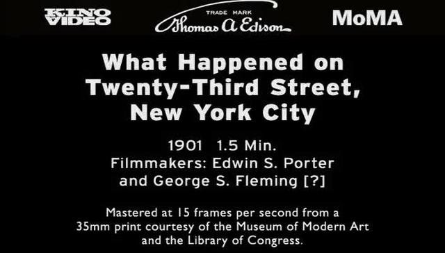 What Happened on Twenty-Third Street, New York City (1901)