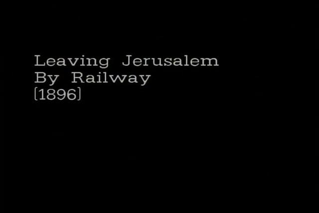 Leaving Jerusalem by Railway (1896)