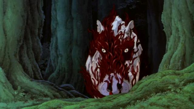 Princess Mononoke Pulling San Out Of The Demon Boar