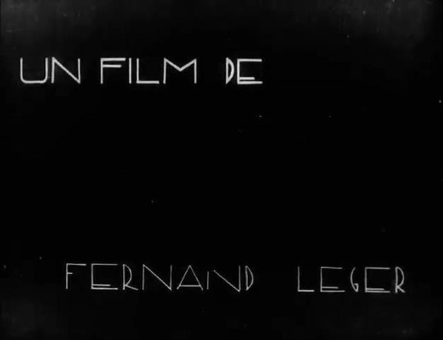 Ballet Mecanique (1924)  Opening