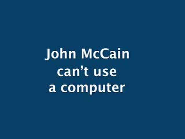 John McCain Can't Type
